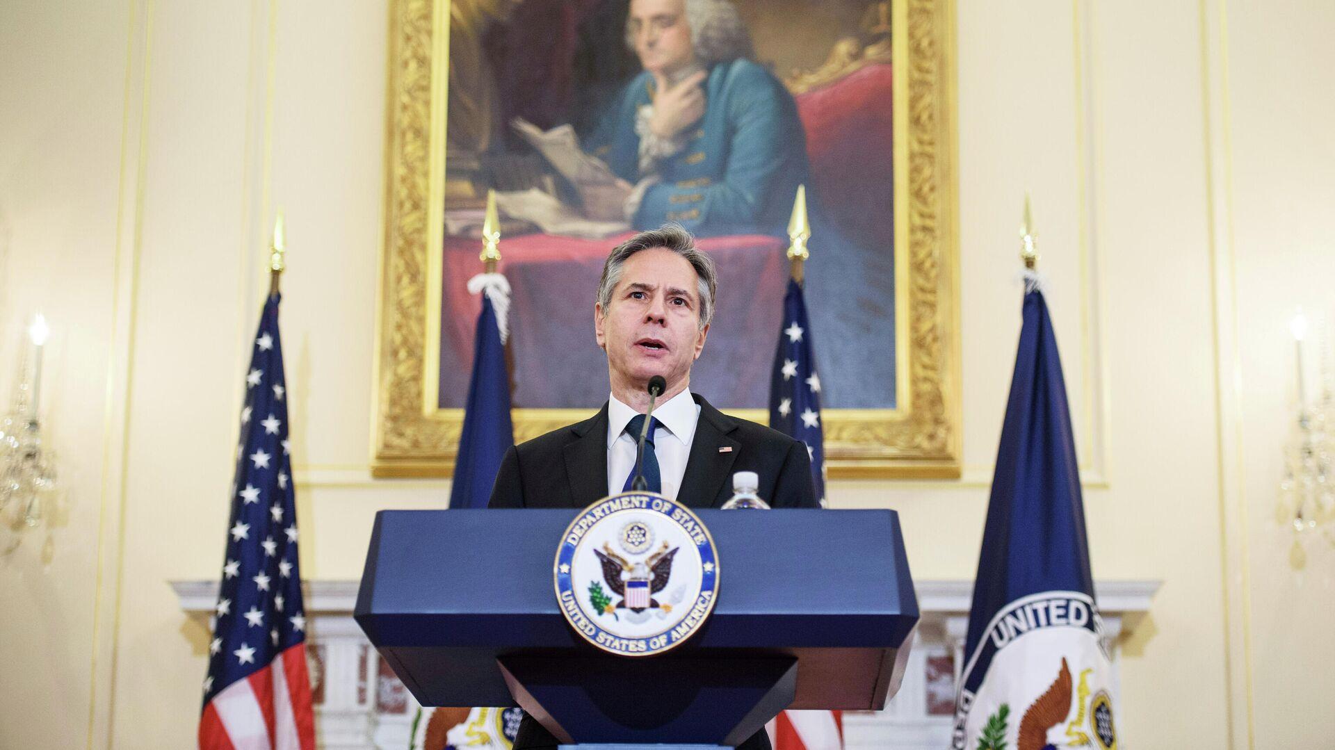 Государственный секретарь США Энтони Блинкен - РИА Новости, 1920, 07.05.2021