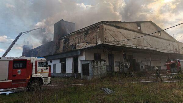 Пожар в городе Смоленске на улице Кашена