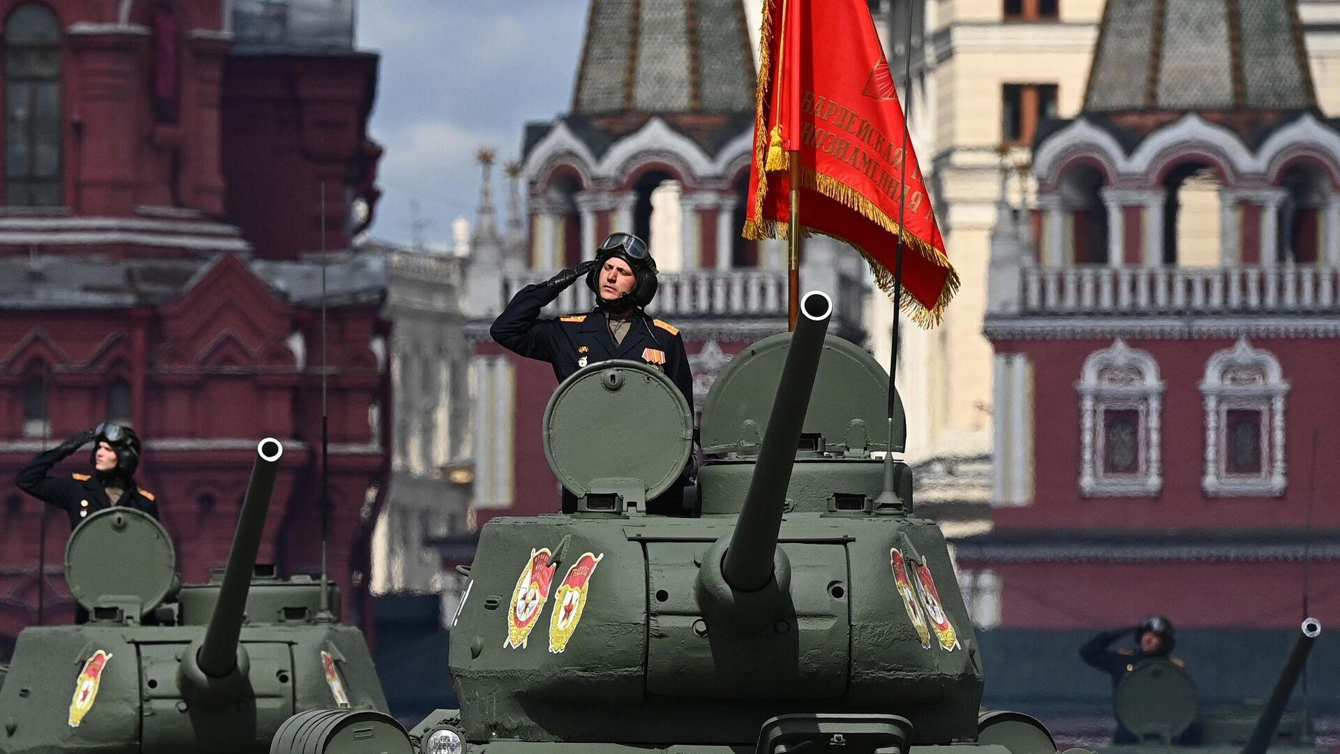 Генеральная репетиция парада Победы в Москве - РИА Новости, 1920, 08.05.2021