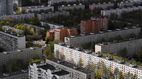 Жилые дома в одном из районов Москвы