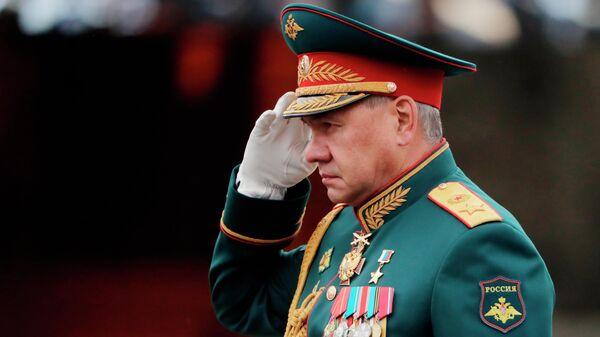 Министр обороны РФ Сергей Шойгу на военном параде в честь 76-й годовщины Победы в Великой Отечественной войне в Москве