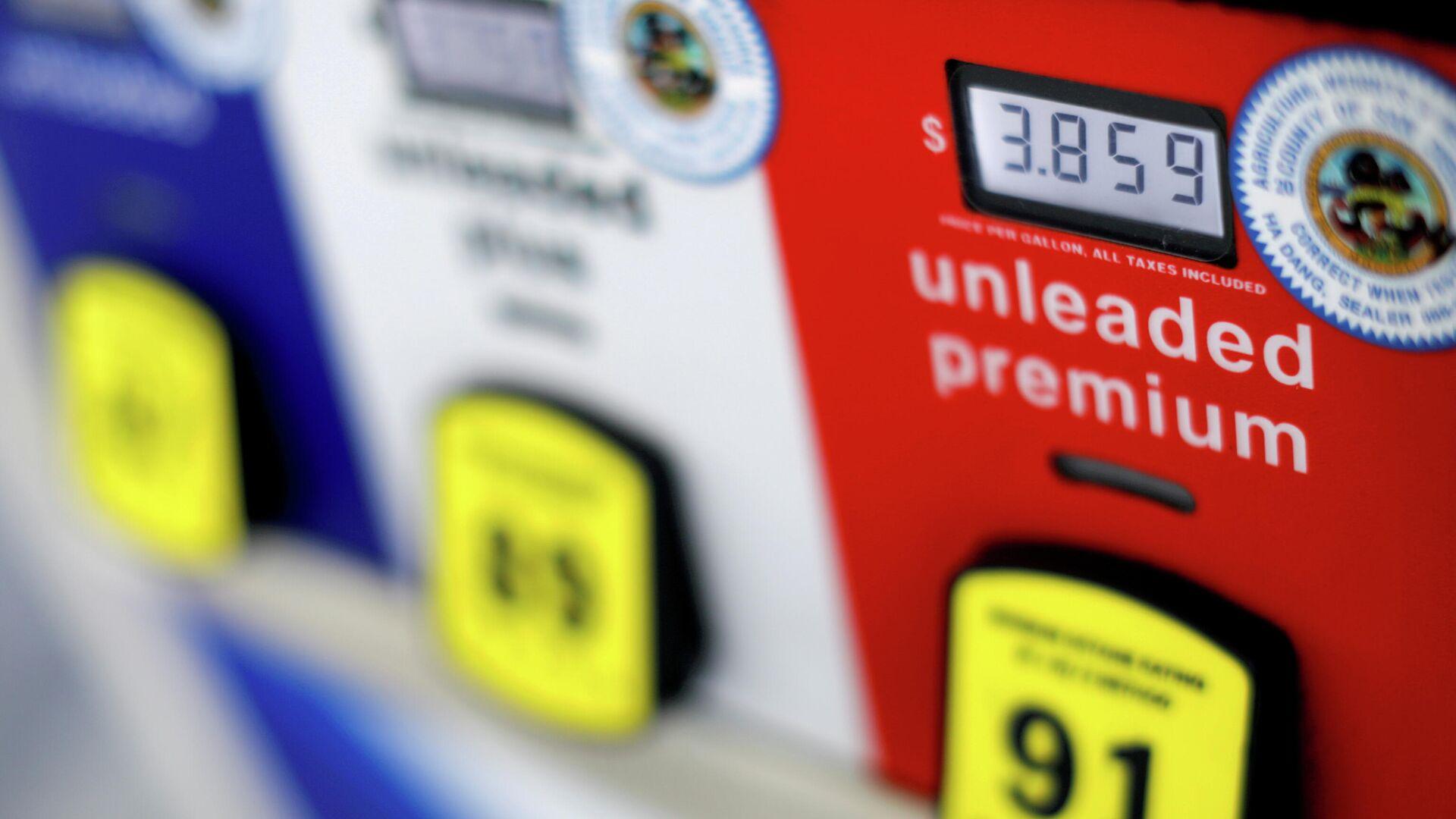 Цена на бензин на автозаправке в Сан-Диего, США - РИА Новости, 1920, 12.05.2021