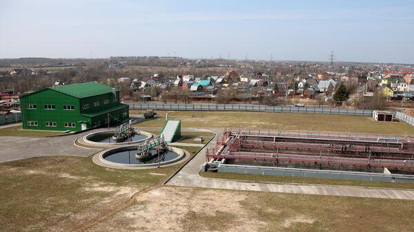 Бассейны биологической очистки и пункт доочистки воды канализационно-очистных сооружений Кокошкино в Новой Москве