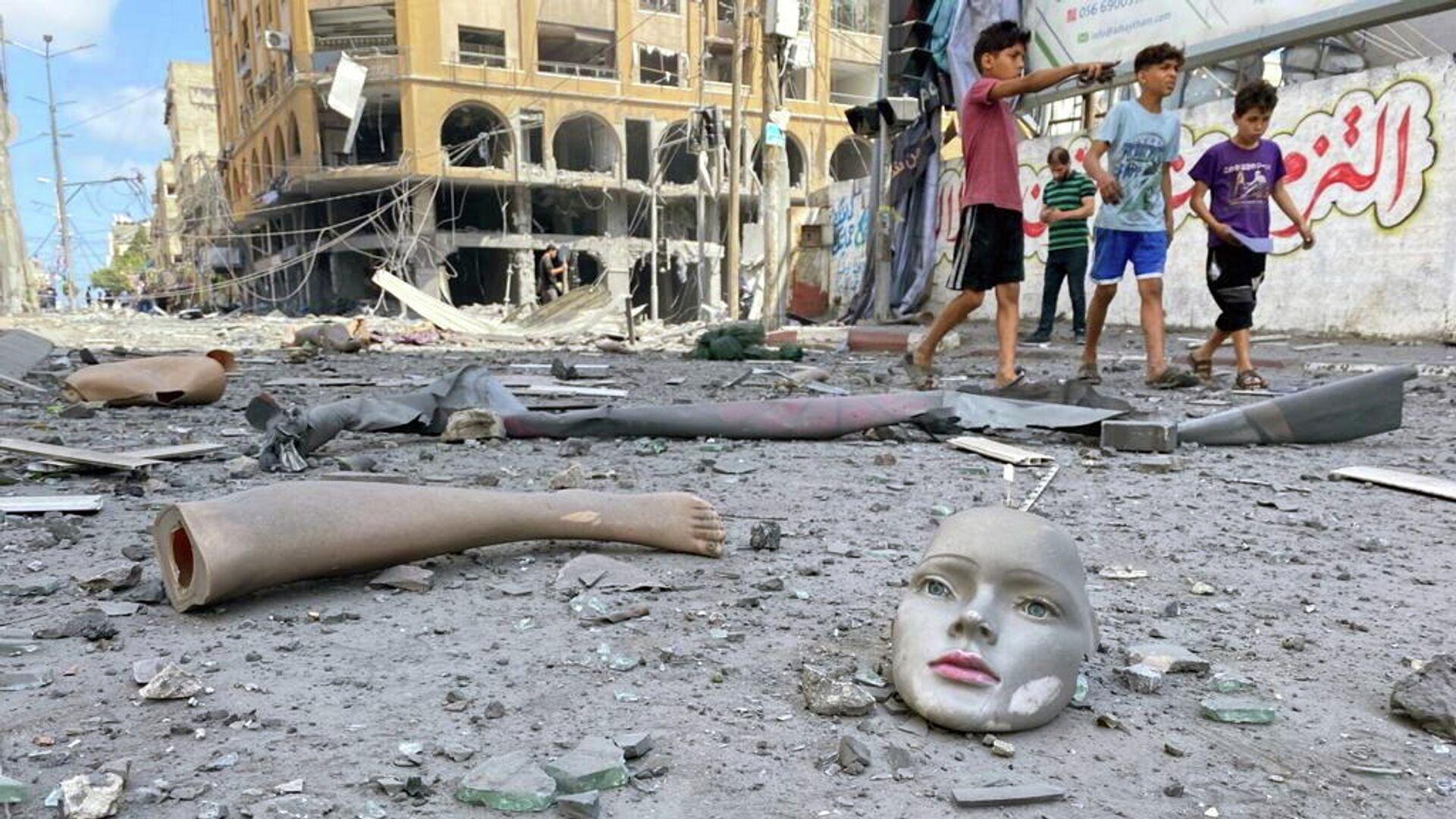 Последствия израильских воздушных ударов в Газе - РИА Новости, 1920, 12.05.2021