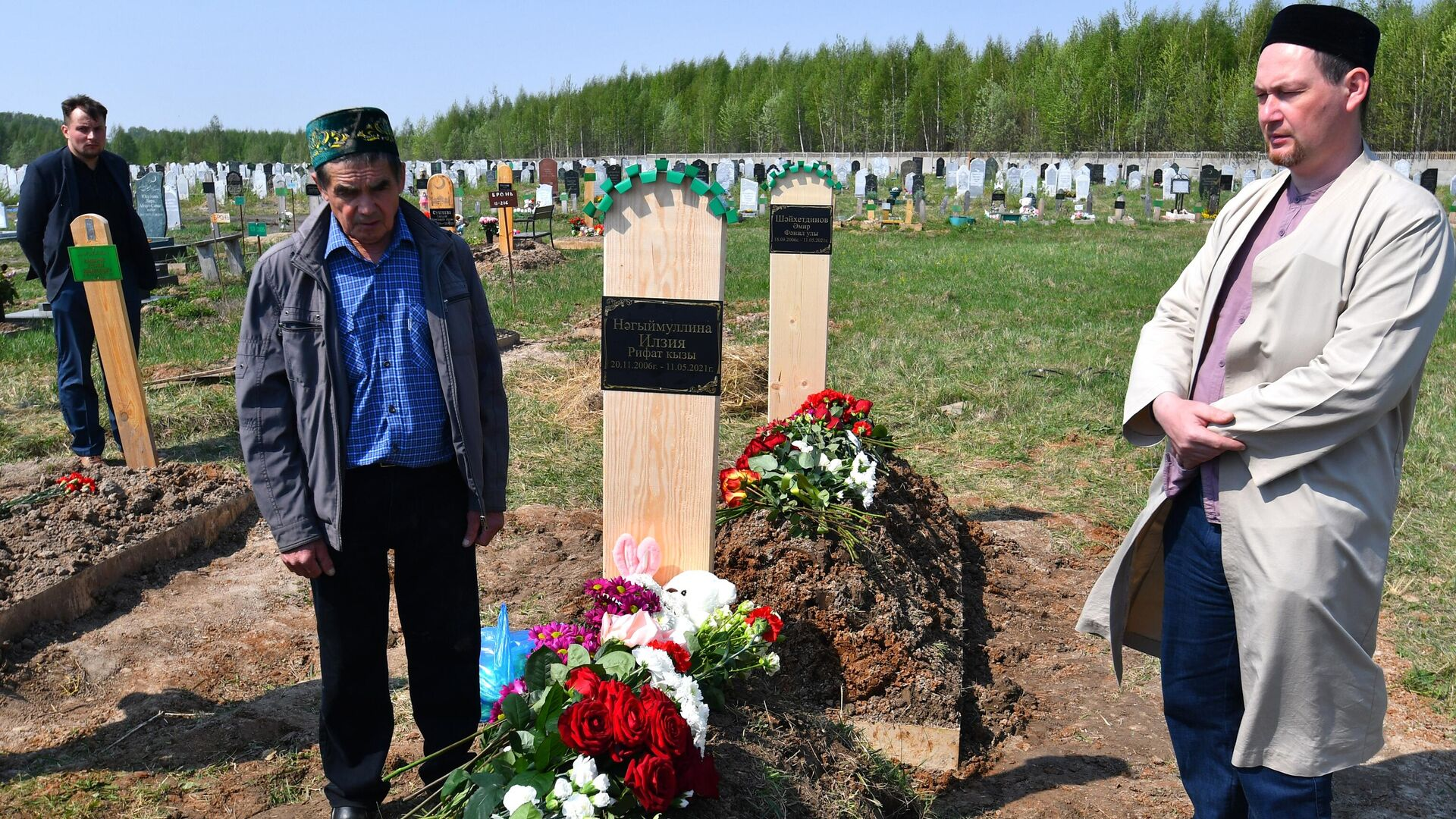 Похороны погибших в результате стрельбы в школе No175 в Казани - РИА Новости, 1920, 12.05.2021