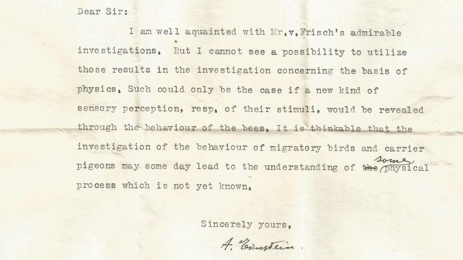Опубликовано ранее неизвестное письмо Эйнштейна о сверхчувствах животных