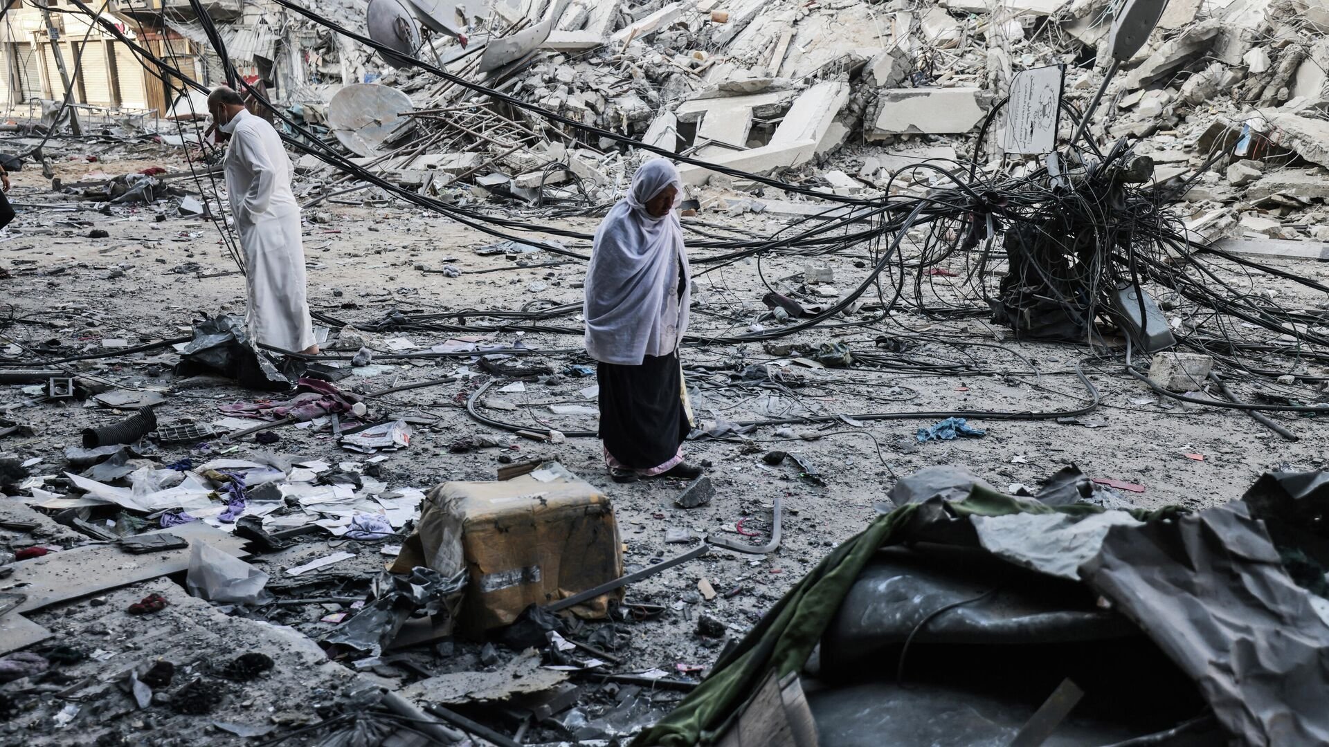 Последствия израильских воздушных ударов в Газе - РИА Новости, 1920, 13.05.2021