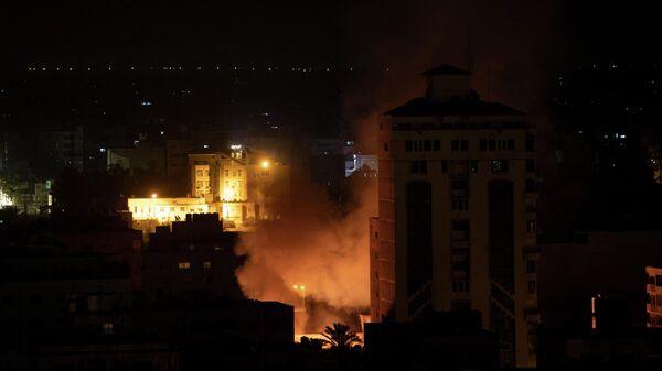 Ракетный удар Израиля по территории сектора Газа. 14 мая 2021
