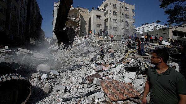 Последствия удара израильских сил по сектору Газа