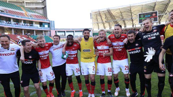 Футболисты Спартака после окончания матча