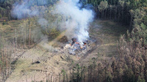Место взрыва в чешском Врбетице