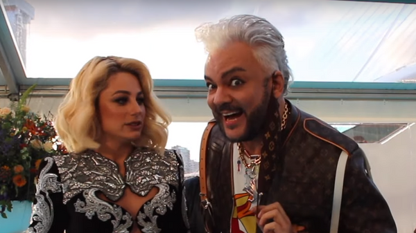 Natalia Gordienko ft. Filip Kirkorov(Moldova) @ Eurovision 2021 Turquoise Carpet Opening Ceremony
