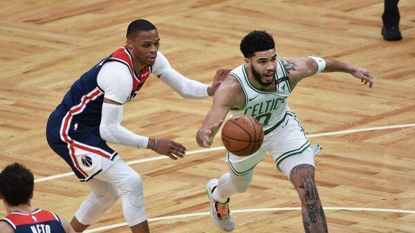 Игровой момент матча НБА Бостон Селтикс - Вашингтон Уизардз