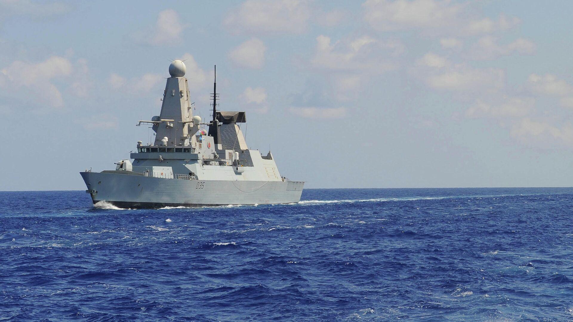 Эскадренный миноносец противовоздушной обороны HMS Dragon Королевского военно-морского флота Великобритании - РИА Новости, 1920, 27.05.2021