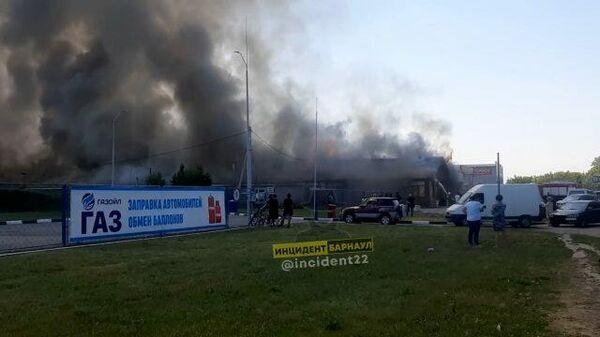 Крупный пожар в Барнауле