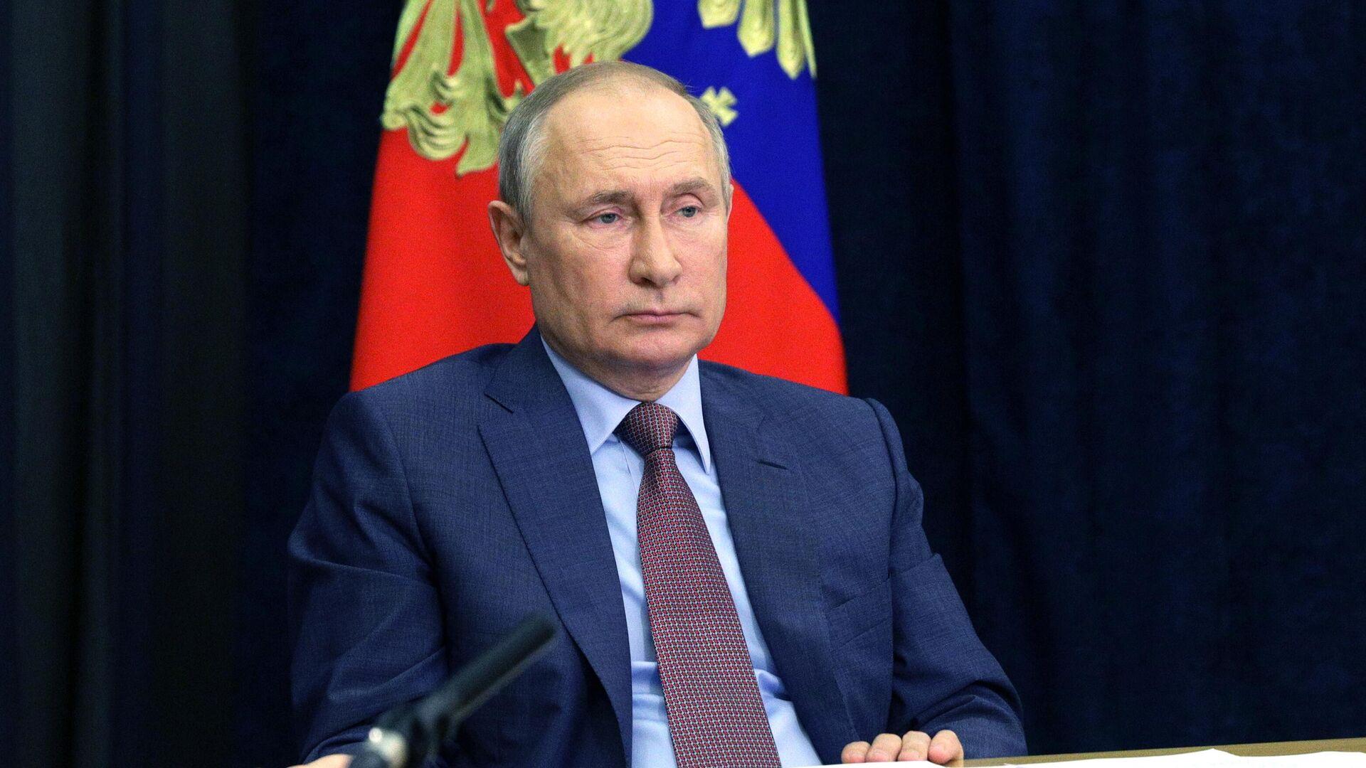 Президент РФ Владимир Путин проводит совещание с членами правительства РФ в режиме видеоконференции - РИА Новости, 1920, 22.06.2021