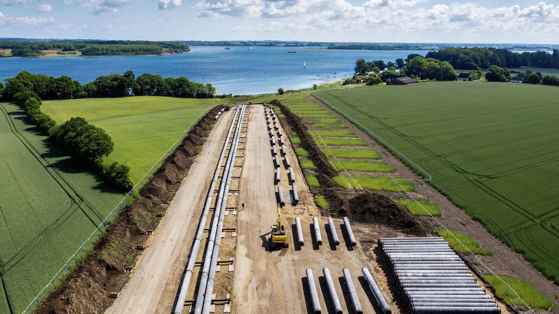 Подготовка к строительству газопровода Baltic Pipe - РИА Новости, 1920, 04.06.2021