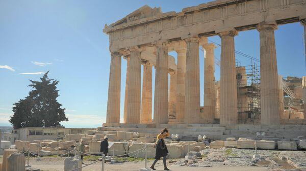 Пешеходные дорожки в Афинском Акрополе до ремонта