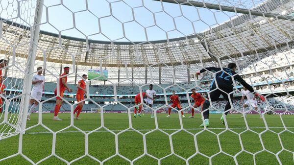 Игровой момент матча ЕВРО-2020 Уэльс - Швейцария