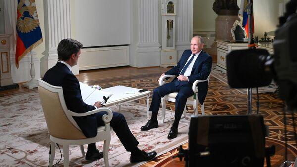 Президент РФ Владимир Путин дал интервью американской телекомпании NBC