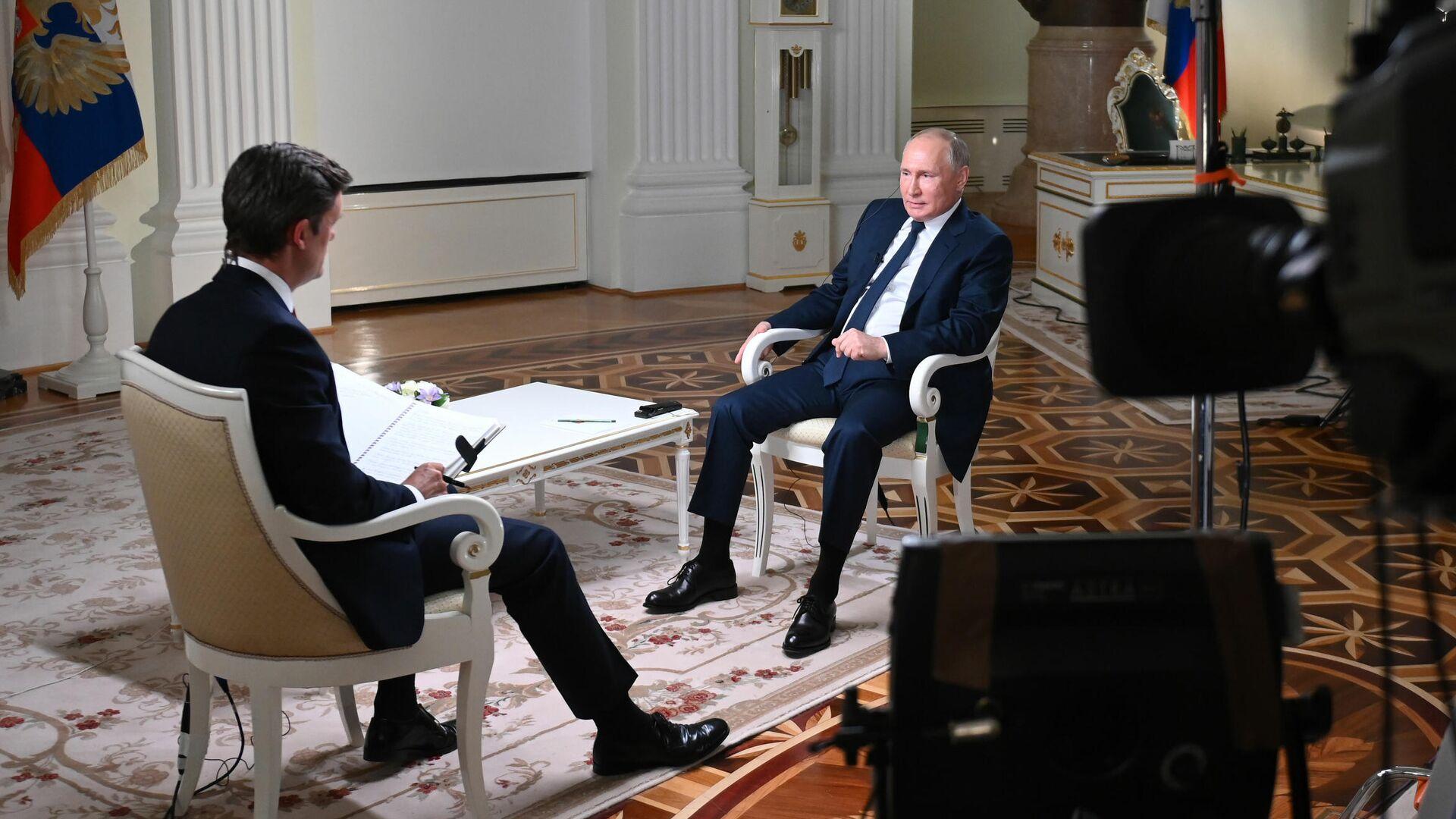 Президент РФ Владимир Путин дал интервью американской телекомпании NBC - РИА Новости, 1920, 14.06.2021