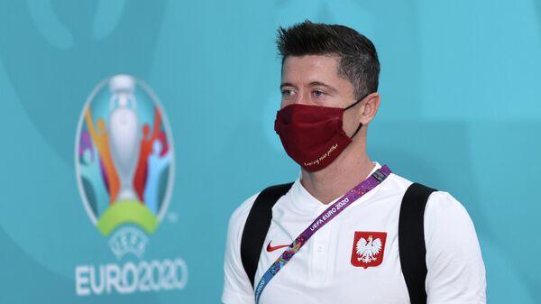 Нападающий сборной Польши Роберт Левандовски
