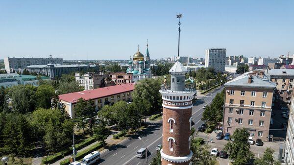 Пожарная каланча на улице Интернациональная в Омске