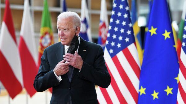 Президент США Джо Байден прибывает на саммит ЕС-США в Брюссель, Бельгия