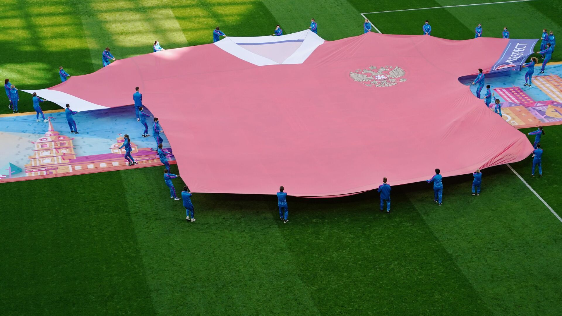 Церемония перед началом матча Финляндия - Россия - РИА Новости, 1920, 21.06.2021