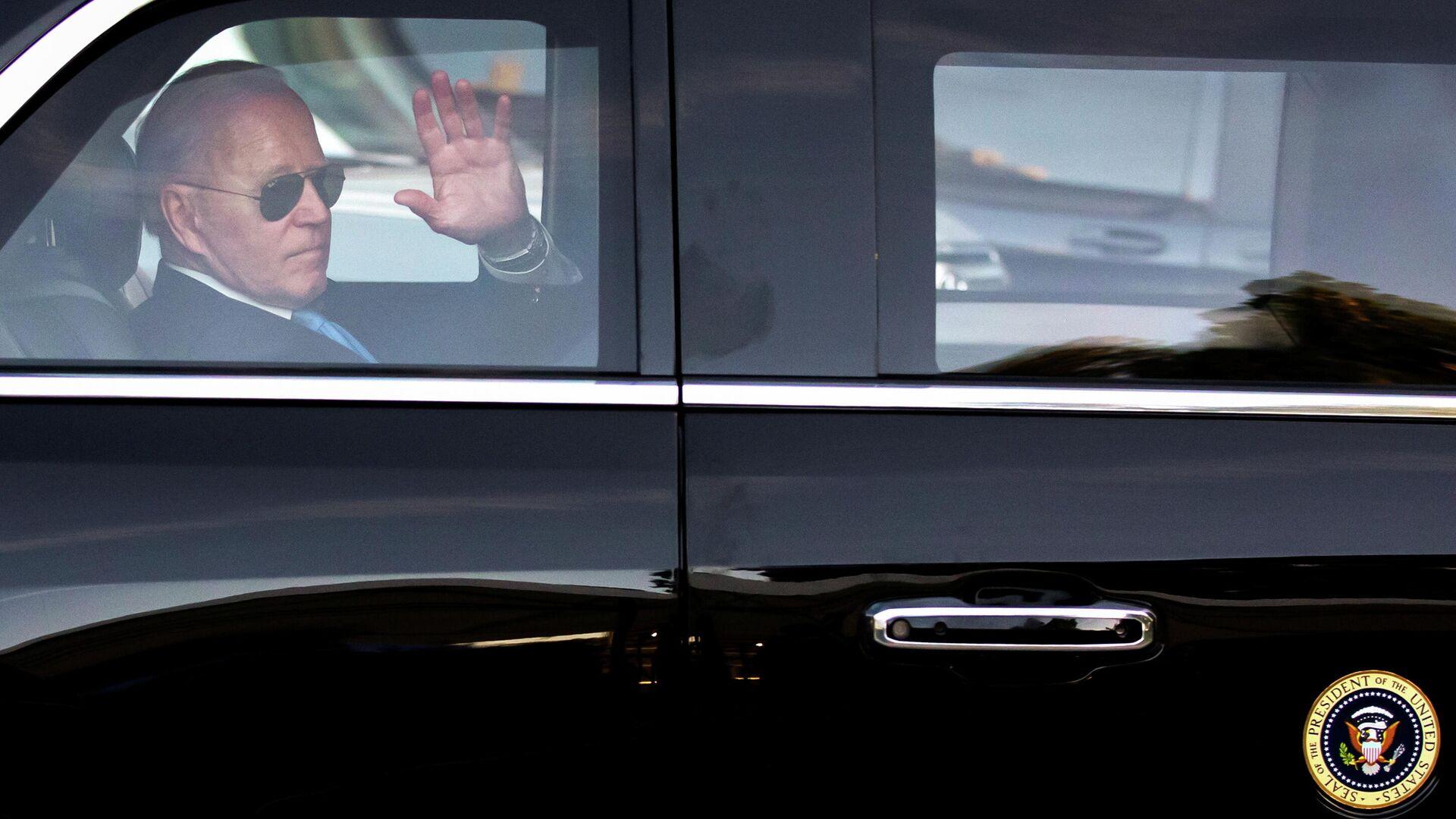 Президент США Джо Байден после встречи с президентом РФ Владимиром Путиным в Женеве - РИА Новости, 1920, 16.06.2021