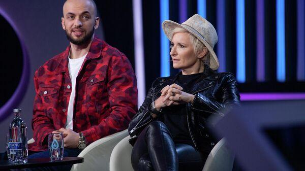 Диана Арбенина на съемках шоу Я вижу твой голос