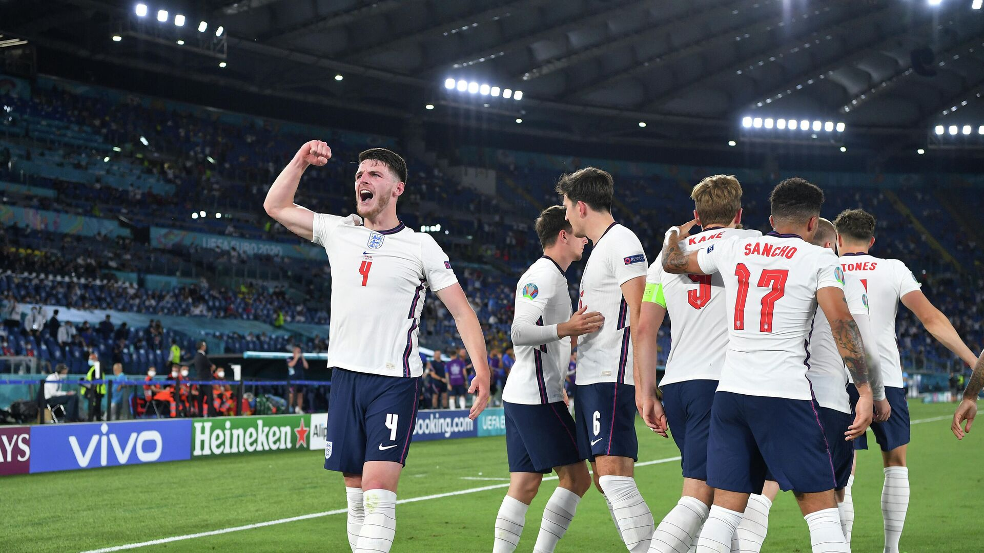 Сборная Англии разгромила Украину и вышла в полуфинал ЕВРО-2020 - РИА  Новости, 04.07.2021