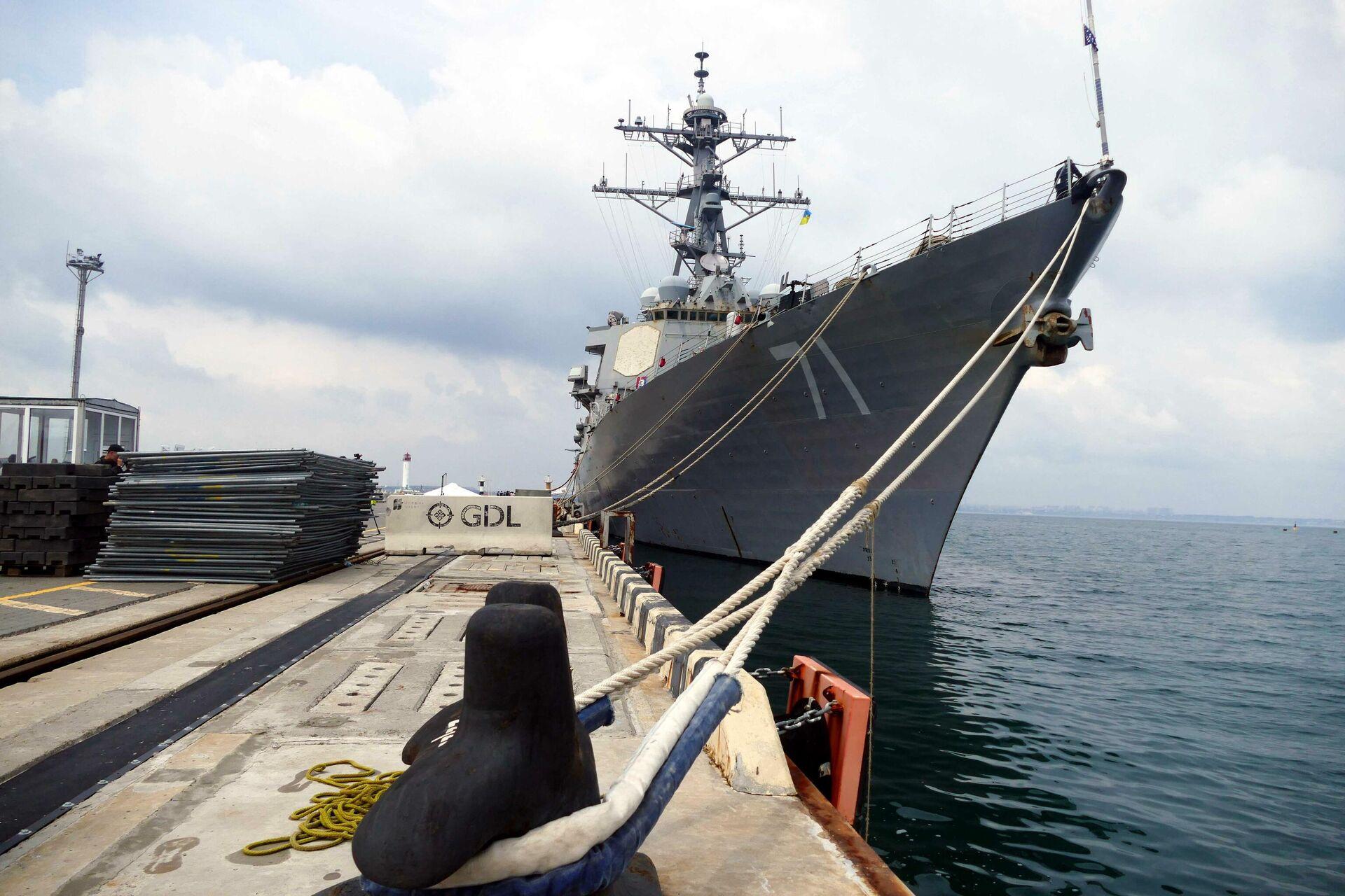 Эсминец ВМС США Росс у причала в Одессе - РИА Новости, 1920, 06.07.2021