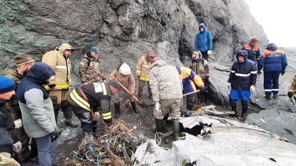 Поисковые работы на месте крушения Ан-26 на Камчатке
