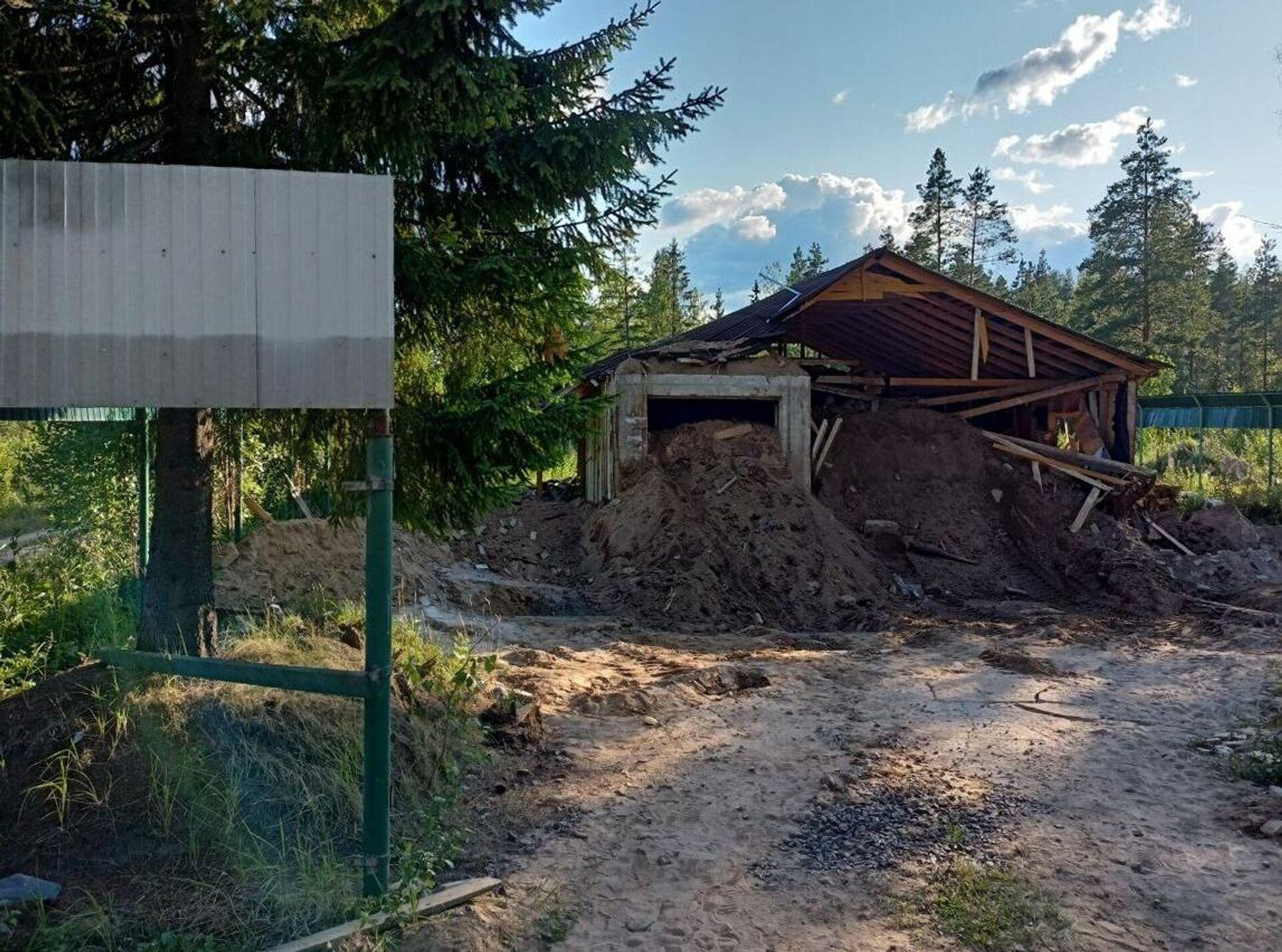 СК не обнаружил следов пребывания людей в бункере с крематорием, найденном в Ленинградской области