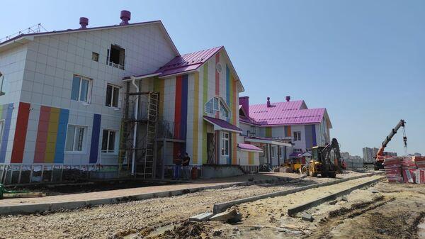 Стройплощадка детского сада Акварелька в Тамбовской области