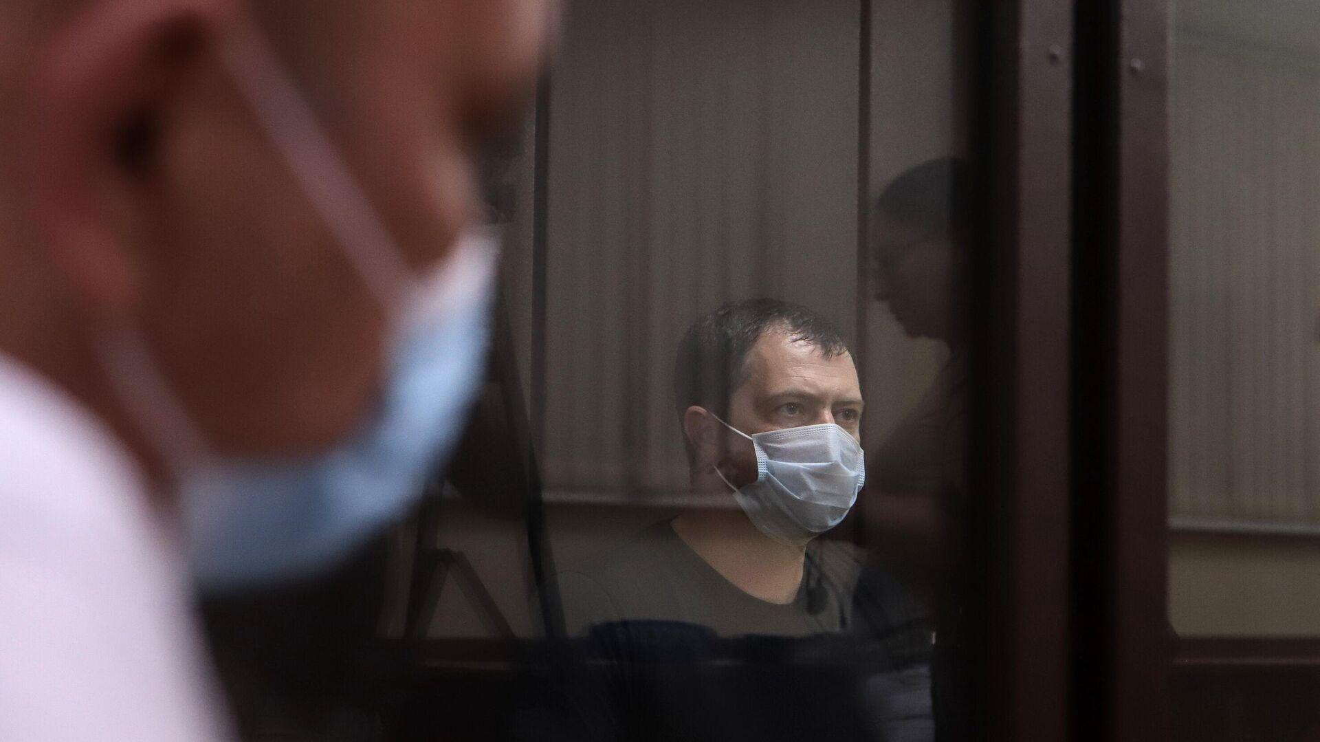 Начальник ставропольского ГИБДД полковник Алексей Сафонов в зале суда - РИА Новости, 1920, 21.07.2021