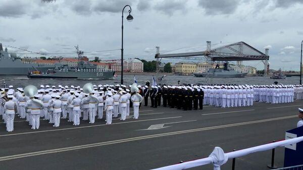Генеральная репетиция Главного военно-морского парада в Петербурге