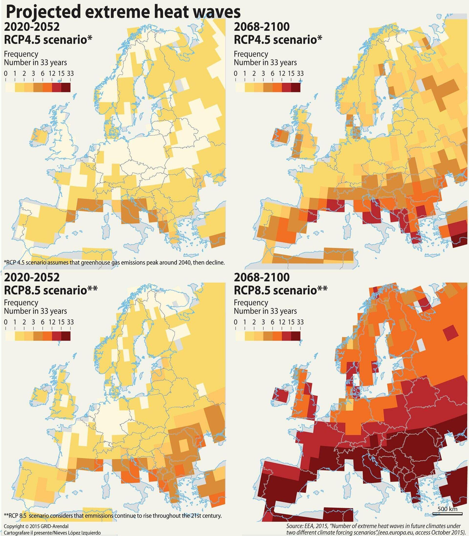 Прогноз количества волн тепла в Европе - РИА Новости, 1920, 26.07.2021