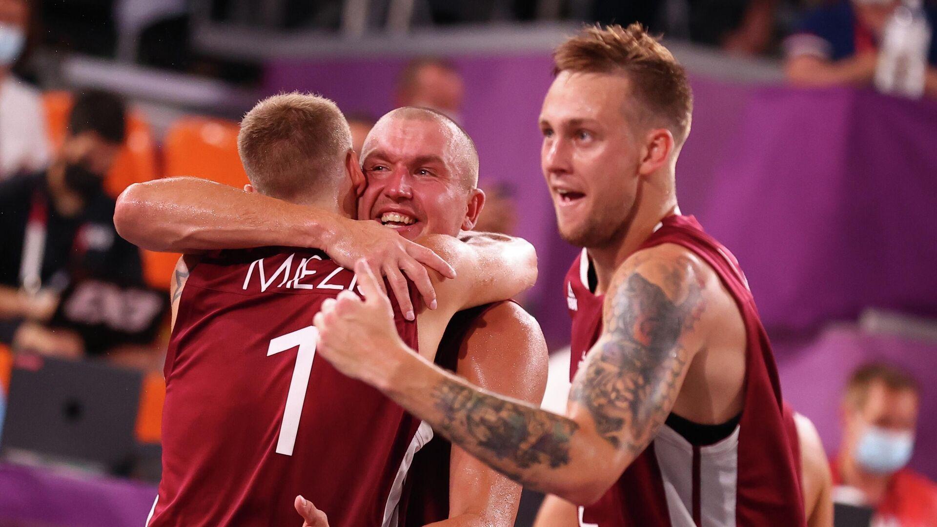 Мужская сборная Латвии по баскетболу 3x3 - РИА Новости, 1920, 28.07.2021