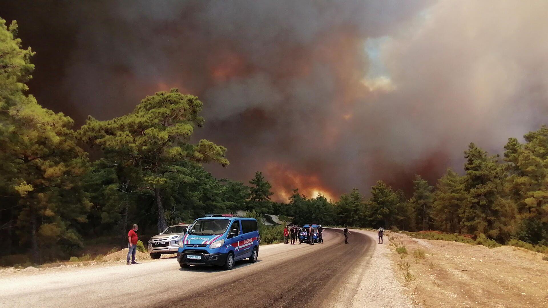 Лесной пожар в Анталье, Турция - РИА Новости, 1920, 01.08.2021