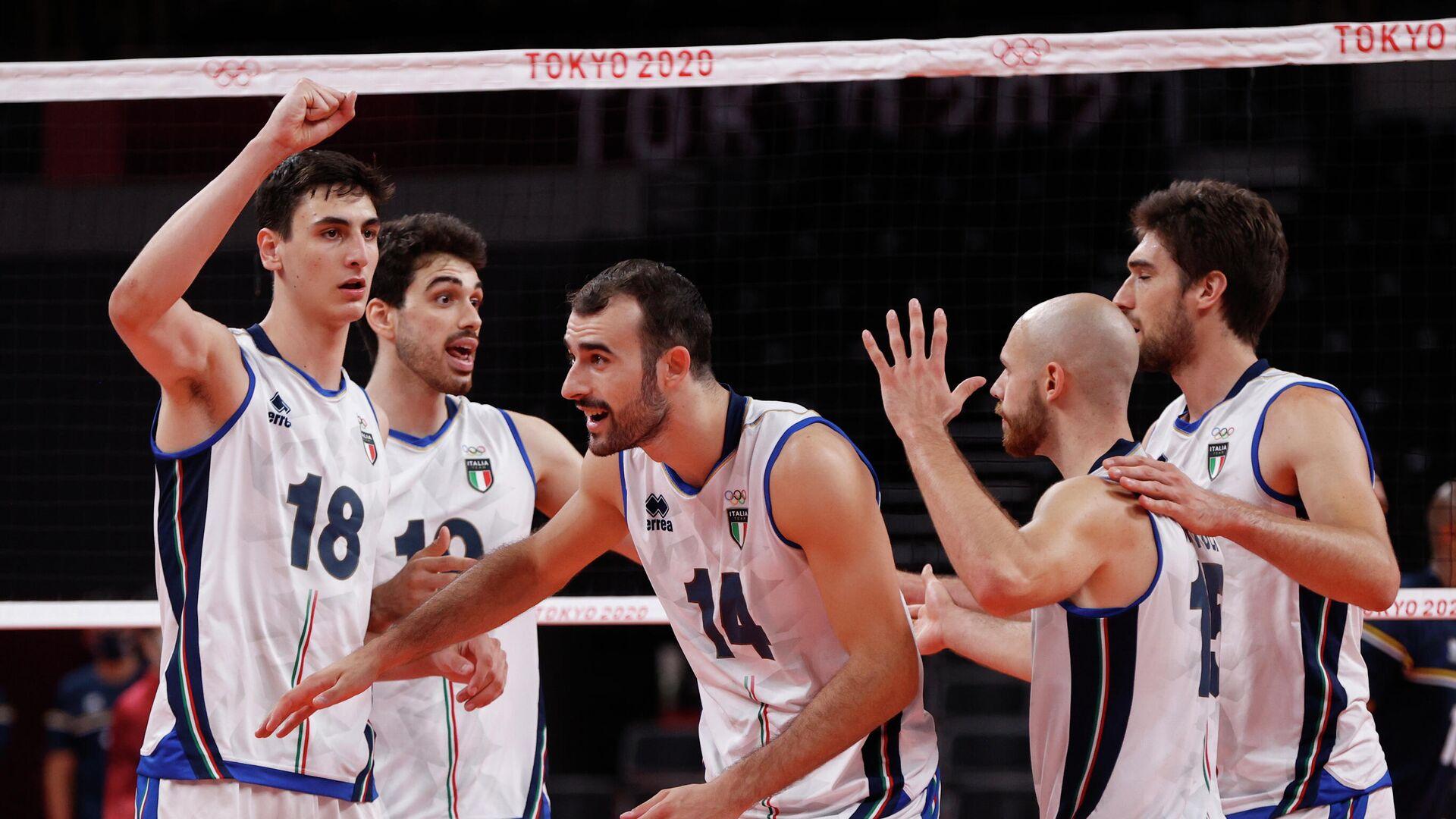 Волейболисты сборной Италии - РИА Новости, 1920, 01.08.2021