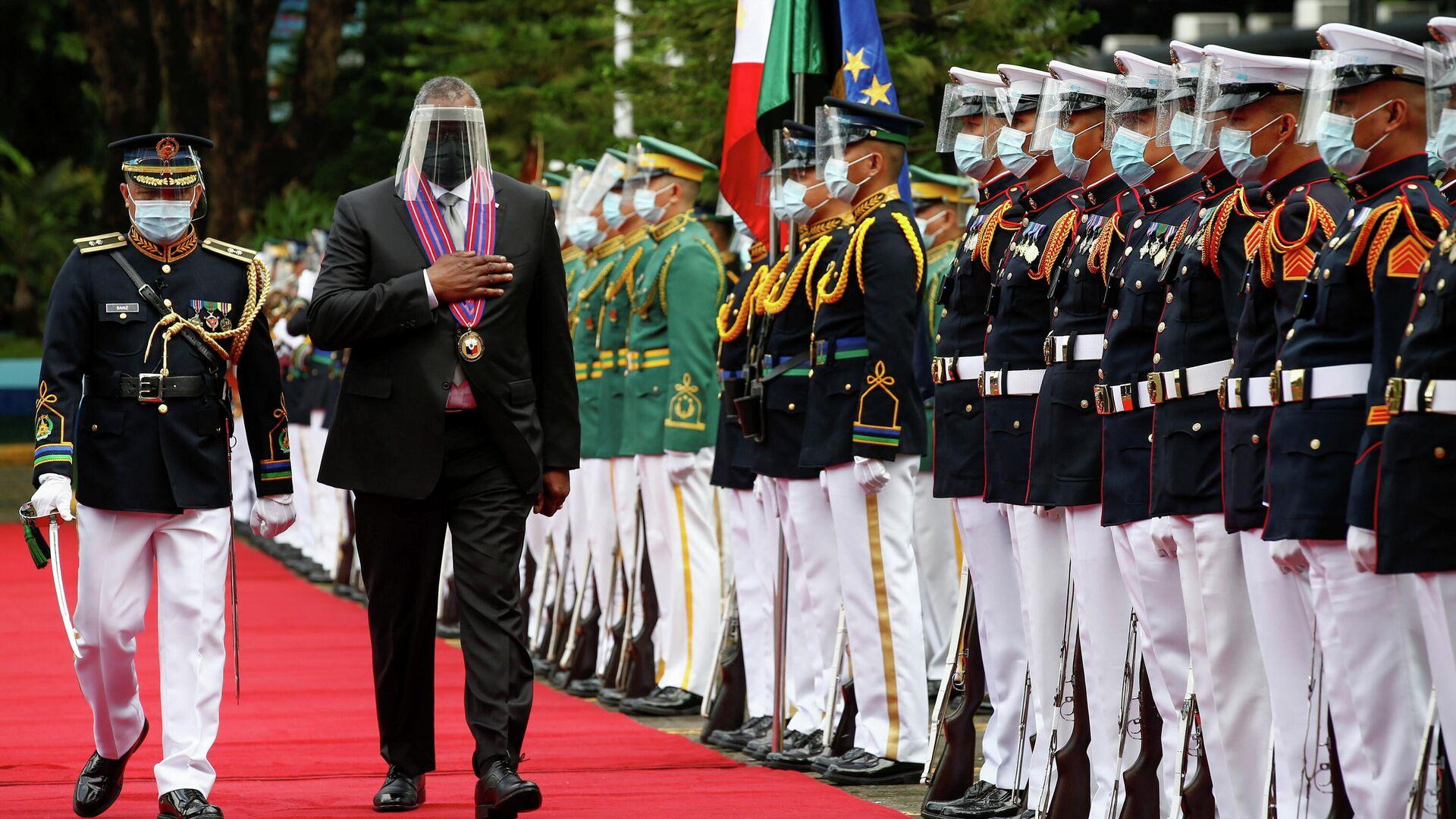 Визит министра обороны США Ллойда Остина в Манилу, Филиппины  - РИА Новости, 1920, 05.08.2021
