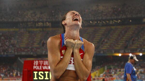 Елена Исинбаева на Олимпиаде 2008 года в Пекине