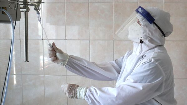 Медицинский работник в клинической больнице скорой помощи №15 в Волгограде