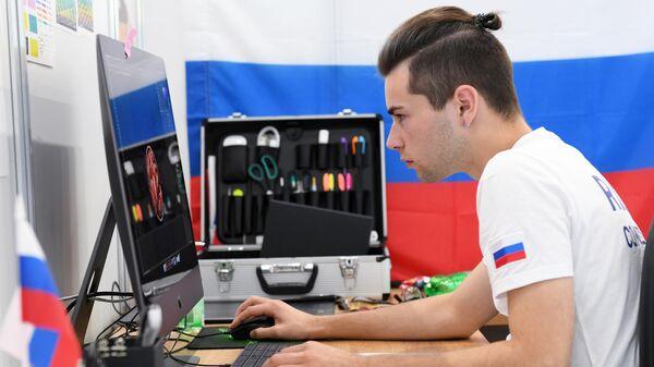 Участник соревнований в компетенции Графический дизайн мирового чемпионата по профессиональному мастерству Worldskills