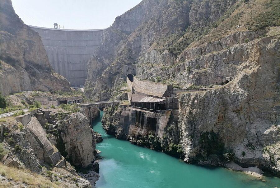 Река Сулак и Чиркейская ГЭС