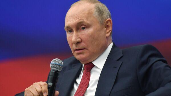 Президент РФ Владимир Путин на встрече с представителями партии Единая Россия