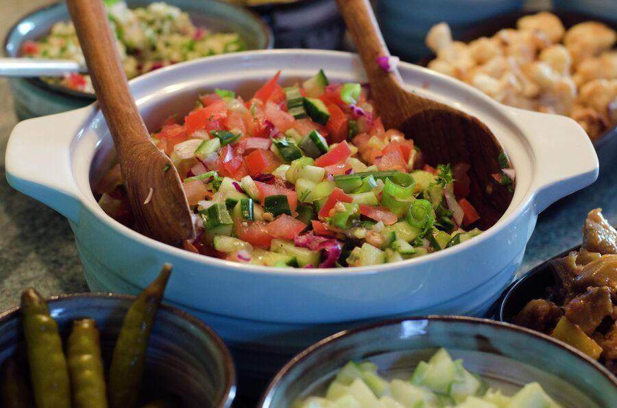 Традиционный овощной салат в Израиле