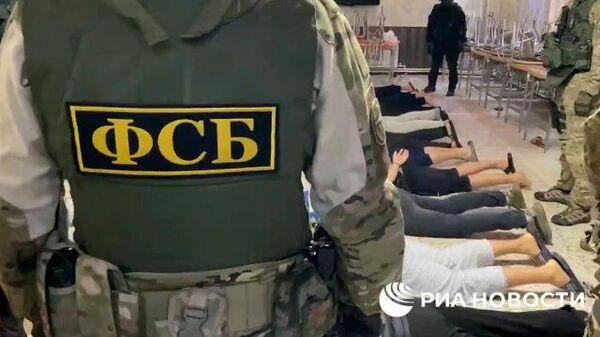 Задержание террористов ячейки Катиба Таухид валь-Джихад*. Кадры ФСБ